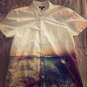 sunset ocean collard t-shirt